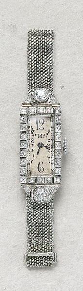 Breguet art deco diamond watch with platinum mesh band Or Antique, Antique Jewelry, Vintage Jewelry, G Shock, Ring Armband, Rolex, Bijoux Art Nouveau, Art Deco Watch, Art Deco Diamond