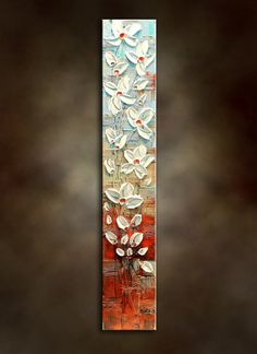 Original Abstract Poppy Painting.Heavy by NataSgallery on Etsy, $138.00
