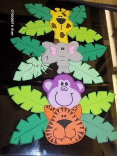 selva decoracion para niños con foami - Google Search