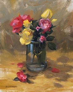 Winter Blooms by Laurie Kersey Oil ~ 14 x 11