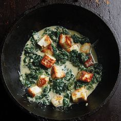 Saag Paneer (Spinach - or other greens - with Fresh Indian Cheese) | SAVEUR