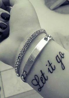 Let it go tattoo! Super cute!