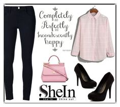 """""""shein"""" by velida-husic ❤ liked on Polyvore featuring Frame Denim, Michael Antonio and Dolce&Gabbana"""