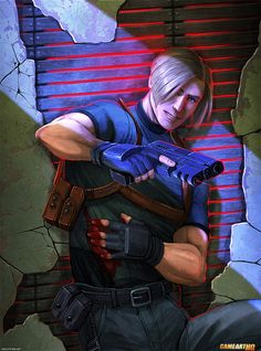 Leon S Kennedy from Resident Evil Art by Julia Lichty