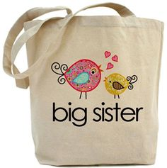 Big Sister Gifts From Baby - 61 Perfect Gift Ideas For Big Sisters - Best big sister gifts from baby. So many great gifts to make big sisters feel special and prepare t - Big Sister Presents, Sister Birthday Presents, Non Toy Gifts, Baby Girl Photos, Reusable Shopping Bags, Christmas Mom, Baby Art, Baby Girl Gifts, Mom And Baby