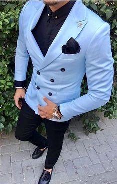 Men Suits Light Blue Wedding Tuxedos For Men Slim Fit Mens Suit Clothing Shawl Collar Business Casual Grooms Wear Costum is part of Tuxedo for men Gender MenItem Type SuitsMaterial Polyester,CottonC - Costume En Lin, Mode Costume, Slim Fit Tuxedo, Tuxedo For Men, Tuxedo Suit, Blue Tuxedo Wedding, Wedding Tuxedos, Wedding Groom, Wedding Suits For Men
