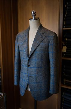 B&TAILOR - Tweed Windowpane Sports Coat by B&TAILOR in Holland&Sherry Sherry Tweed