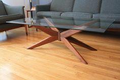 MId-Century Modern Modern Walnut/Glass Coffee Table