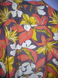 Tiki Classics Aloha Hawaiian Shirt Size XL 100 Silk Plumaria Brown Orange | eBay