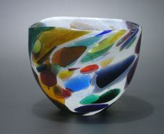 G is for Glassblowing.  Beautiful glass bowl by Shakspeare Glass.