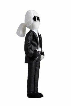 Karl Lagerfeld doll