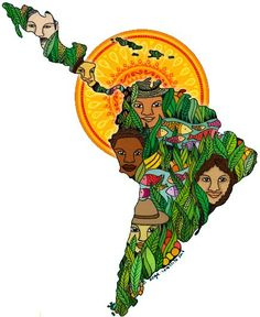 Un pueblo, un continente Latin America, South America, Illustrations, Illustration Art, Arte Latina, Latino Art, Brown Pride, Geniale Tattoos, Art Folder
