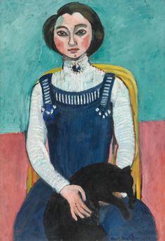Henri Matisse, Marguerite au chat noir, 1910 Henri Matisse, Marguerite au chat noir, début 1910 ©