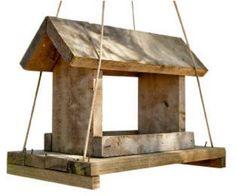 Easy bird feeder to build from pallets.   FollowPics