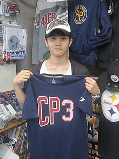 【新宿2号店】 2013年9月26日 クリス・ポール大好きなシバタ様! 次回来店された際は是非CPのTシャツを着てきて下さいね(・∀・) #nba