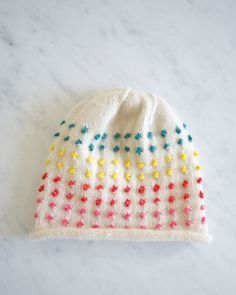 26c96c74799 Laura s Loop  Button Candy Hat - The Purl Bee - Knitting Crochet Sewing  Embroidery Crafts Patterns and Ideas! Ashley Cole