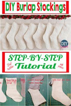 *Pin now - Read later DIY Burlap Stocking Tutorial