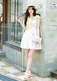 Ayaka Miyoshi Japanese Beauty, Asian Beauty, What To Wear Today, How To Wear, Fashion Idol, Cute Asian Girls, Simple Style, White Dress, Beautiful Women