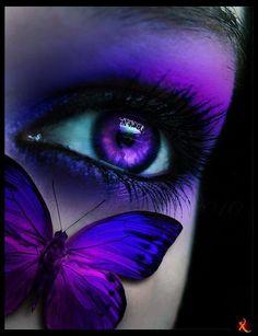 Purple Eye & Butterfly Make-up