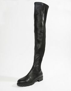 7e1db6fb661 ASOS DESIGN Krista chunky flat over the knee boots