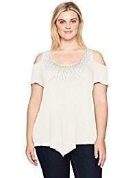 New Star Vixen Women's Plus Size STR Rayon/Span Sslv Cold Shoulder Top W Stud Trim online. Find the perfect Alexander Del Rossa Tops-Tees from top store. Sku FUNJ69394UXBJ81332