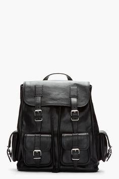 Saint Laurent Black Leather Cargo Rock Backpack for men Black Leather Backpack, Grey Leather, Leather Men, Pinterest For Men, Saint Laurent, Garment Bags, Mk Bags, Men Online, Purses And Handbags
