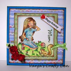 Vanja's Crafty Den / Vanjin kreativni kutak: Mariposa and Birthday Girl for Sunflowerfield Designs March Challenge