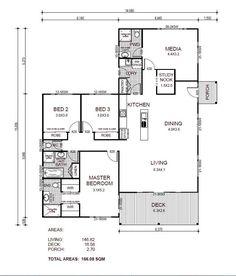 plano-de-casa de un piso y más de 150 m2
