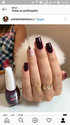 The Best Nail Art Designs – Your Beautiful Nails Red Manicure, Pink Nails, My Nails, Happy Nails, Polish Nails, Manicure Pedicure, Pink Polish, Matte Pink, Matte Nails