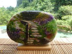 石头彩绘 - painted rock / stone