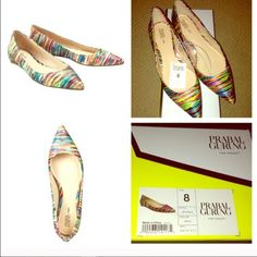 Color me flats Prabal Gurung for target pointy toe flats. Wore only a few times inside is clean, sole is dirty. Box included. Sold out Prabal Gurung for Target Shoes Flats & Loafers