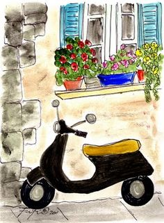 #ridecolorfully  Provence Vespa by Fifi Flowers