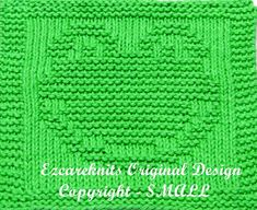 Knitting Cloth Pattern  FROGGY FACE  PDF by ezcareknits on Etsy