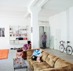 studio flat - this should read my dream studio flat. Nice and clean, cool adi originals throw cushion too.