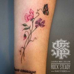 Image result for sweet pea flower tattoo