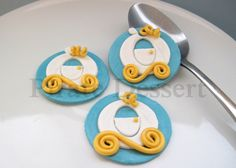 Edible CINDERELLA Cupcake toppers MAGIC CARRIAGE - Cinderell theme Fondant cupcake decorations - Birthday - Princess Cupcakes (3 pieces) by PirateDessert on Etsy https://www.etsy.com/listing/254436771/edible-cinderella-cupcake-toppers-magic