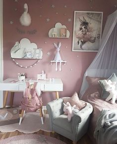 Big Girl Bedrooms, Little Girl Rooms, Girls Bedroom, Baby Room Design, Baby Room Decor, Bedroom Decor, Room Baby, Bedroom Ideas, Interior Design Living Room Warm