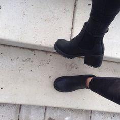 Tia Chunky Cleated Heel Chelsea Boot | Chelsea and Boohoo
