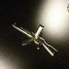 #ak47 #symbol #pendant #jotainhiemanerilaista Cufflinks, Symbols, Pendant, Room, Crafts, Accessories, Instagram, Design, Bedroom