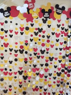 Mickey Mouse Photo Back Drop Mickey Mouse Backdrop, Mickey Mouse Theme Party, Mickey Mouse Birthday Decorations, Mickey Mouse First Birthday, Mickey Mouse Baby Shower, Mickey Mouse Clubhouse Birthday Party, 2nd Birthday, Birthday Ideas, Mickey Mouse Photos