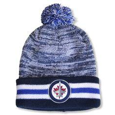 01311b32898 Men s Winnipeg Jets Red Jacket Blue Granite - Cuffed Knit Hat with Pom