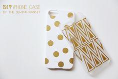 DIY Vinyl iPhone Case--gold  vinyl. love the tribal looking one.