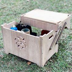 ギミック満載な収納ボックス「ECC BOX」がさらに進化!テーブルとして拡張できる新作パーツ登場 | CAMP HACK[キャンプハック] Knock On Wood, Diy Box, Outdoor Cooking, Outdoor Life, Design Elements, Toy Chest, Storage Chest, Furniture, Camping Kitchen