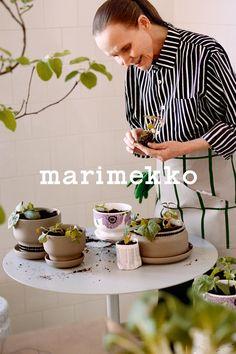 Marimekko, Architecture, Interior, Plants, Dishes, Home, Decor, Style, Arquitetura