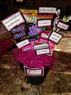 40th Birthday Favors Presents Forty Bday Ideas