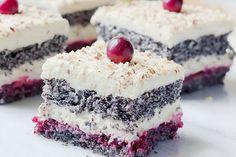 Maková panenka - Mňamky-Recepty.sk Cake Recept, Sweet Cakes, Vanilla Cake, Sweet Recipes, Tiramisu, Food To Make, Sweet Tooth, Cheesecake, Food And Drink