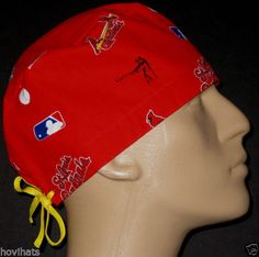 ST. LOUIS CARDINALS RARE SCRUB HAT/ FREE USA SHIPPING & CUSTOM SIZING! JUST LISTED ON HOVIHATS.COM. HOME OF THE CUSTOM SIZED MALE SCRUB HAT!