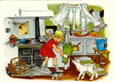 by Ilon Wikland - Die Kinder aus Bullerbü (Astrid Lindgren)