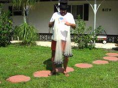 Naples Disc Jockey Cast Net Throwing Instructions, (No Teeth or Shoulder)