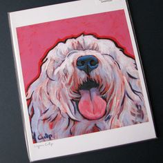 Old English SHEEPDOG Dog 8x10 Signed Art Print from by colormutts